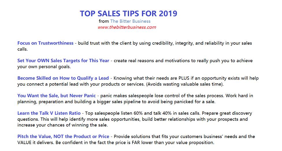 Calls tips sales arrow right